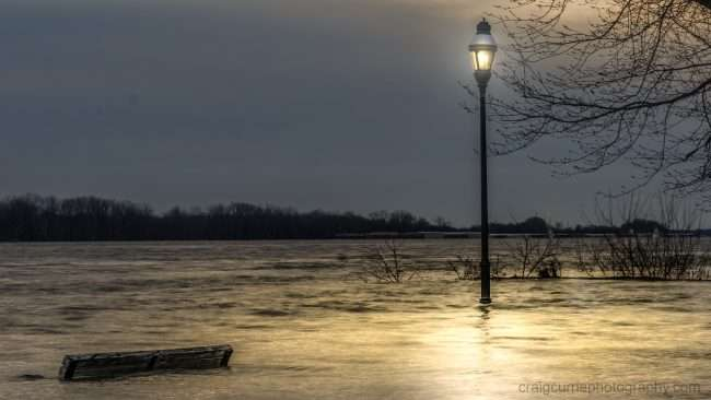 Feb 25, 2018 - Flooding benches light pole underwater Paducah Riverfront/Craig Currie