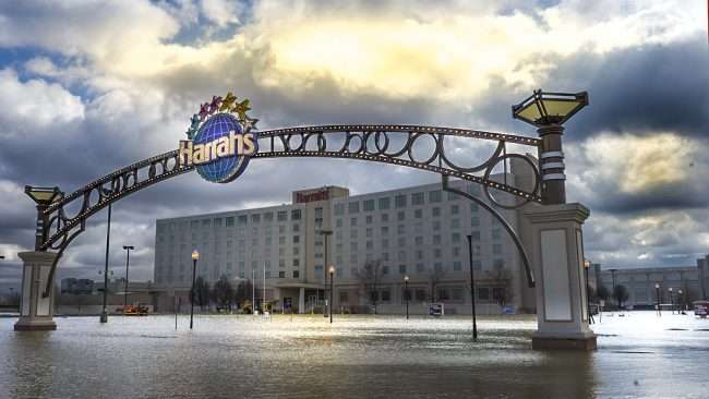 03.01.2018 - Harrah's Hotel and Casino with parking lot flooded in Metropolis, IL/craig currie