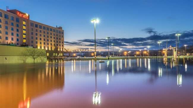 03.07.2018 0 Harrah's parking lot flooded, Metropolis, IL/photonews247.com