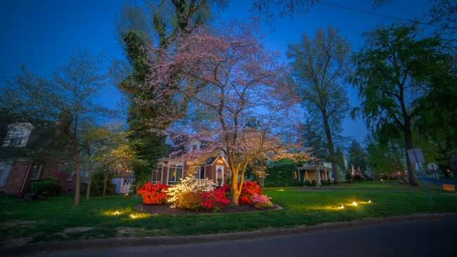 April 29, 2018 - Beautiful home during Paducah's Lighted Dogwood Trail/photonews247.com