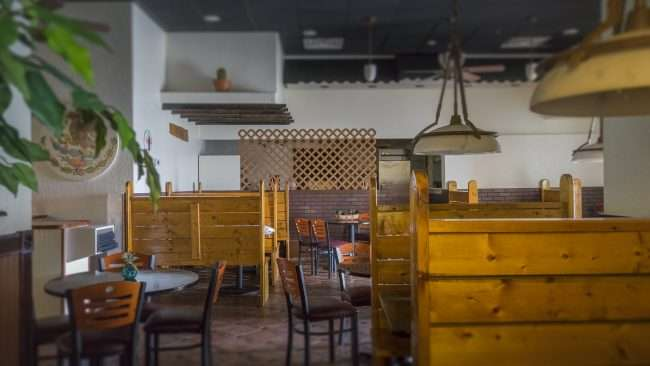 3.16.2018 - Dining area at Hugo's Mexican Grill Restaurant, Paducah Kentucky Oaks Mall/photonews247.com