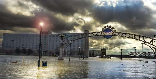 03.01.2018 - Flood at Harrahs Hotel and Casino Metropolis, IL/photonews247.com