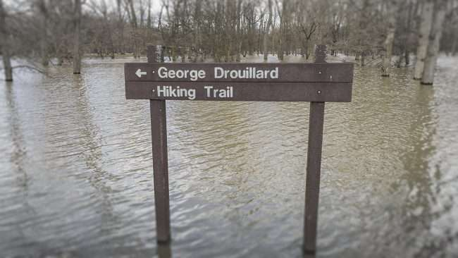 03.02.2018 - Hiking Trail Flooded in Fort Massac State Park, Metropolis, IL/photonews247.com