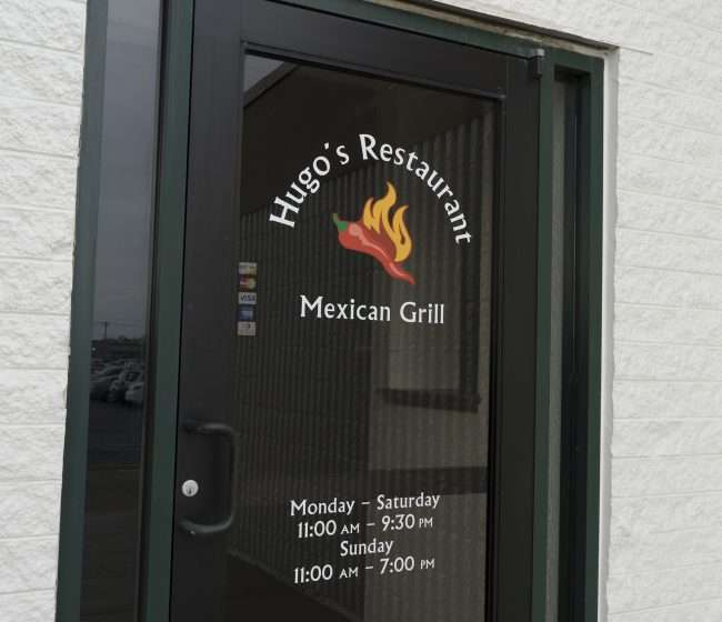 3.16.2018 - Hugo's Restaurants Mexican Grill front door at Kentucky Oaks Mall/photonews247.com