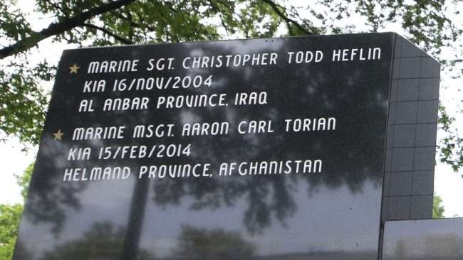 May 28, 2018 - Global War on Terrorism Memorial Monument in honor of his brother MSGT. Aaron C. Torian and all who have sacrificed/photonews247.com
