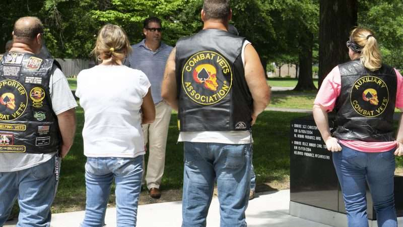 May 28, 2018 - Nathan Torian talks with War Vets at Global War on Terrorism Memorial in honor of brother MSGT. Aaron Carl Torian and Marine SGT Helfin and all who have served/photonews247.com