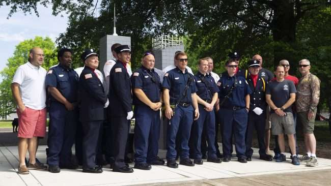 May 28, 2018 - Paducah Fire Department at Terrorism Memorial Monument Ceremony in honor of MSGT. Aaron C. Torian and Marine SGT Helfin all all who have served/photonews247.com