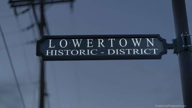 May 18, 2018 - Sign on street pole that reads 'Lower Town Historic District' in Paducah, KY/photonews247.com