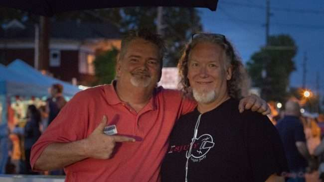 May 18, 2018 - Two good friends attending Lower Town Arts & Music Festival in Paducah, KY/photonews247.com