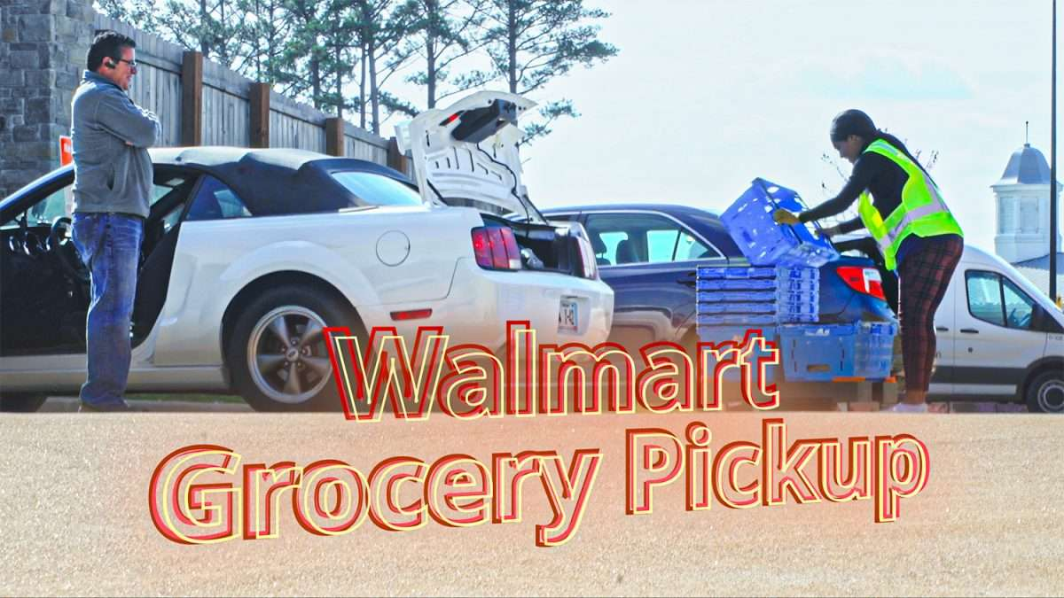 Walmart Grocery Pickup during Covid-19 outbreak in St. Louis.