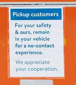 Walmart Contactless Grocery Pickup on Manchester Highlands in St. Louis. credit craig currie