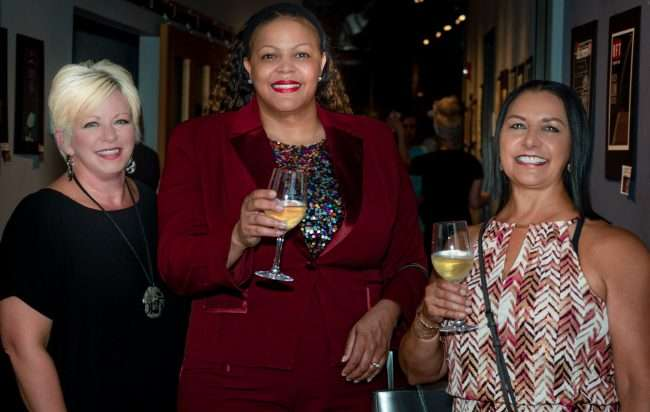 Edna Campos Gravenhorst (L) with friends during SIBA VIP Party for Saint Louis Fashion Fund. credit craig currie