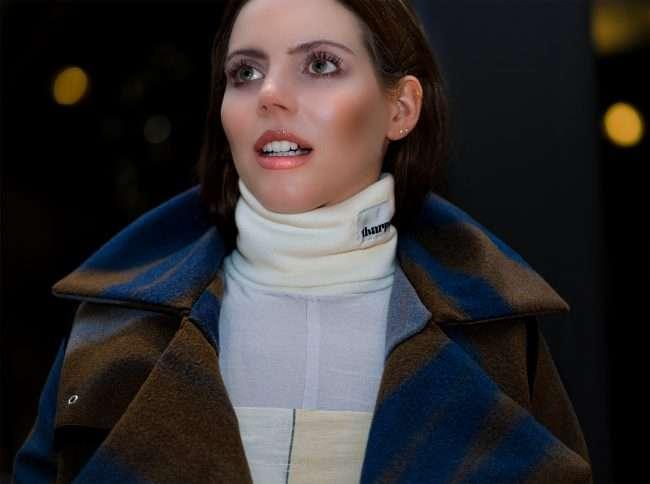 Model wearing Tharpe at Saint Louis Fashion Fund. credit craig currie