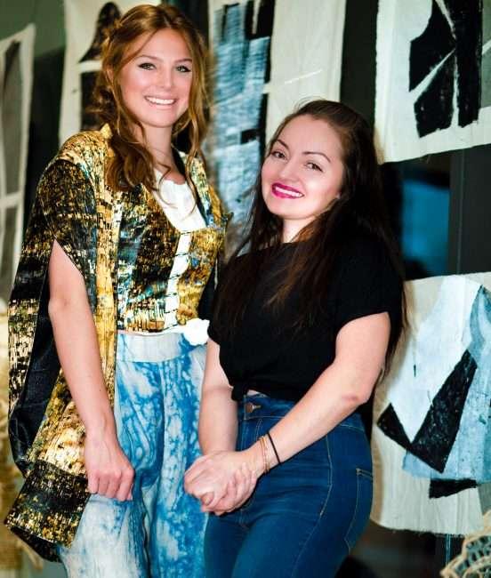 Saint Louis Fashion Fund with Model Suzannah Veltz (L) Amanda Casarez. credit craig currie