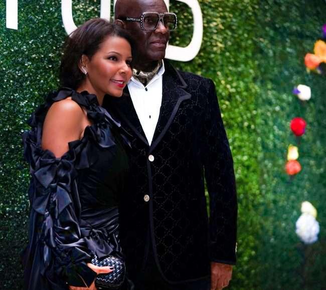 Tania Beasley and Dapper Dan St Louis Fashion Fund Gala Neiman Marcus. credit craig currie