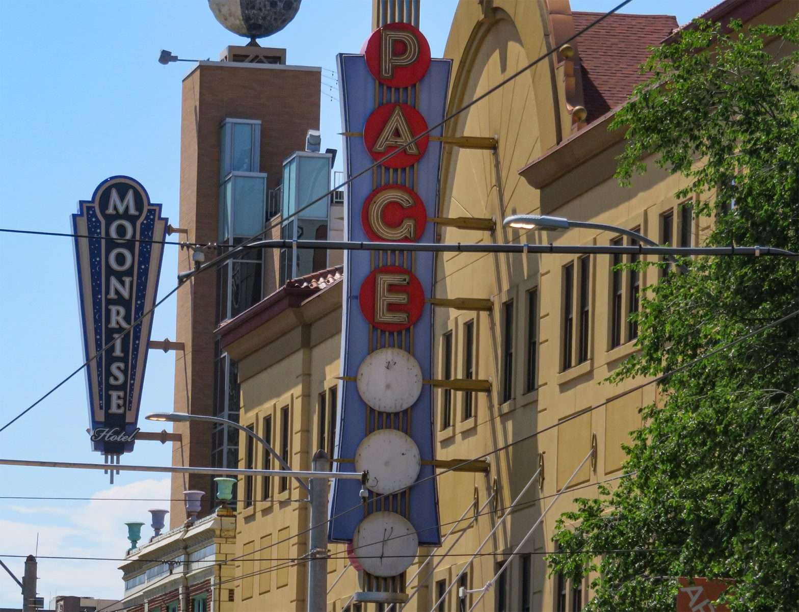 Pageant Concert venue getting new letters on outside sign in The Delmar Loop. (credit craig currie June 1, 2020)