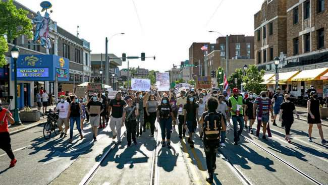 Protest Against Police Violence in University City. credit craig currie