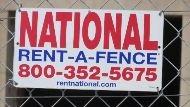 National Rent-A-Fence surrounds the Armory building during construction in St. Louis. credit craig currie