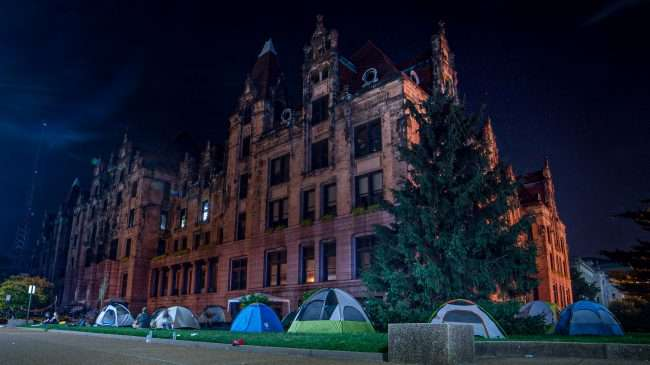 Tents during Occupy St. Louis City Hall. credit craig currie