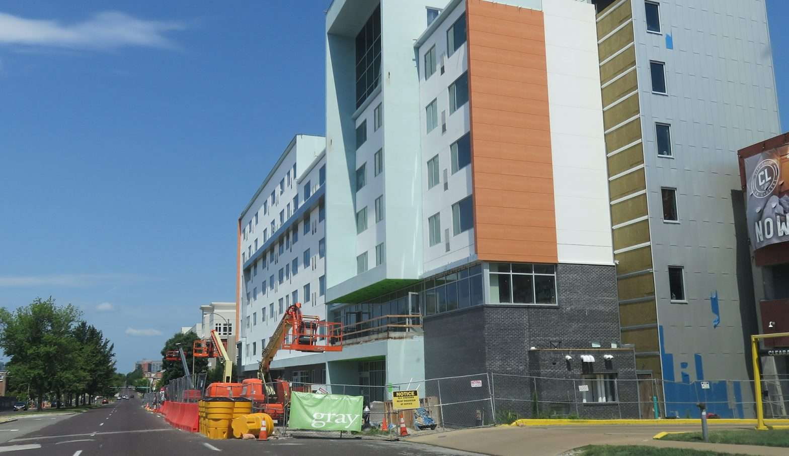 The Element Hotel Construction Update, Midtown, St. Louis. 7319.2020 credit craig currie