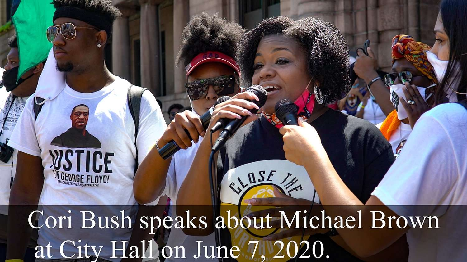 Cori Bush speaks about Michael Brown