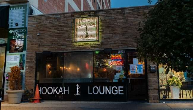 Narna Hookah Lounge is a Mediterranean Cuisine restaurant on Washington Ave. in Downtown St. Louis. (Aug. 28, 2020)