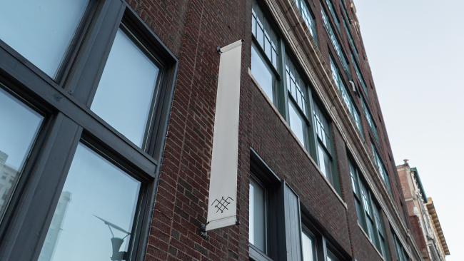 The Saint Louis Fashion Fund sign is gone from this banner suggesting that they may have moved or closed down due to Covid 19 on Washington Ave in Downtown St. Louis. Aug 28, 2020.
