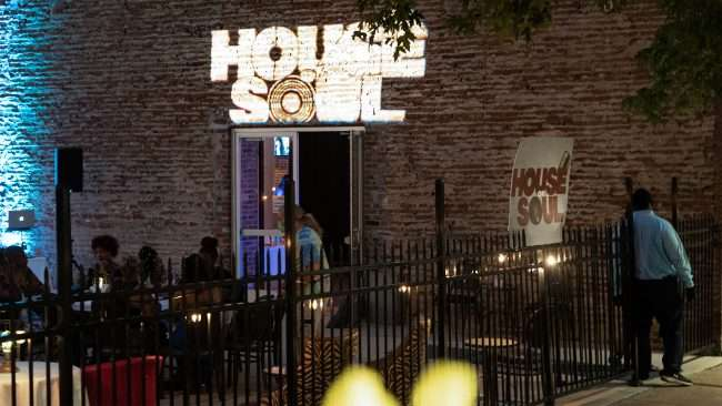 The House Of Soul restaurant has outside dining at the corner of Tucker Blvd. and Washington Avenue in Downtown St. Louis. (Aug. 28, 2020)