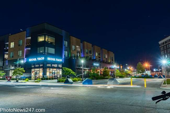 Chroma STL Apartments part of Chouteau Plaza retail center. credit photonews247.com