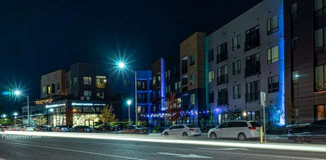 Chroma STL Apartments with lighting effects of building. credit photonews247.com