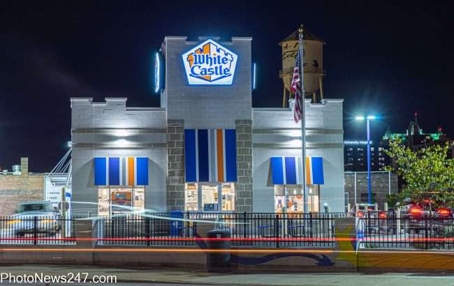 White Castles Restaurant across street from Chroma STL Apartments in The Grove. credit photonews247.com
