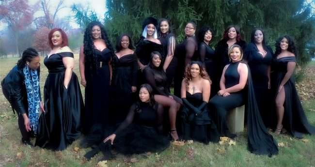 Black Females posing at The STL Collective Photoshoot