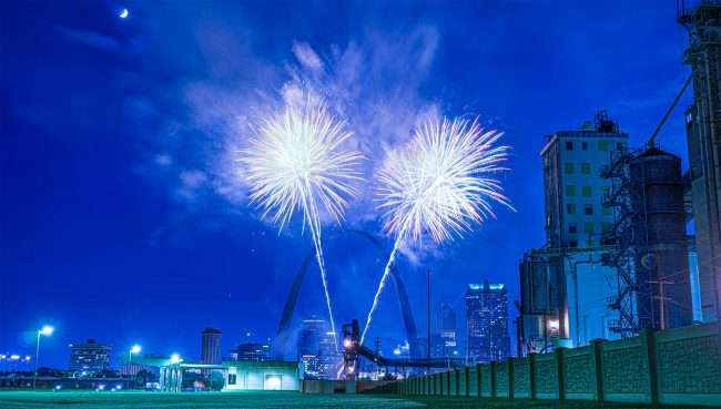 Fireworks St. Louis Gateway Arch