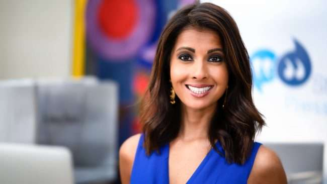 Jasmine Huda, Anchor Reporter for Fox 2 News, smiles during Beauty Buzz 2020. credit craig currie