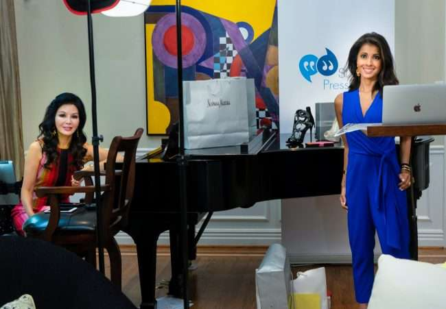 Miran Halen and Jasmine Huda during Virtual Beauty Buzz by St. Louis Press Club and Neiman Marcus. credit craig currie