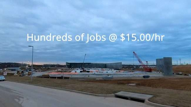 Amazon Berkeley, MO 15 per hour wages. credit craig currie
