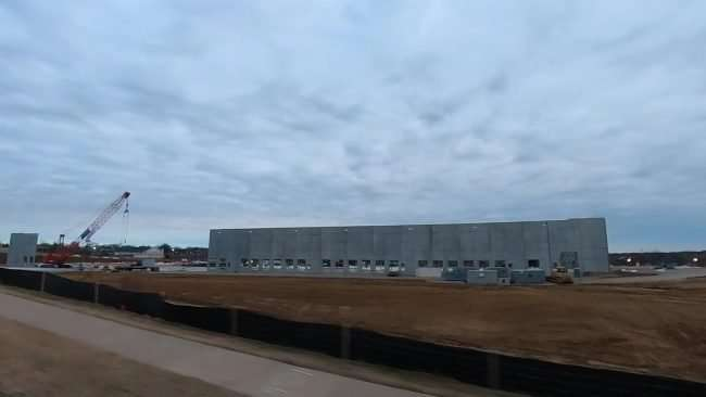 Amazon Sort Center construction site in Berkeley, MO seen from Hanely Rd. credit craig currie