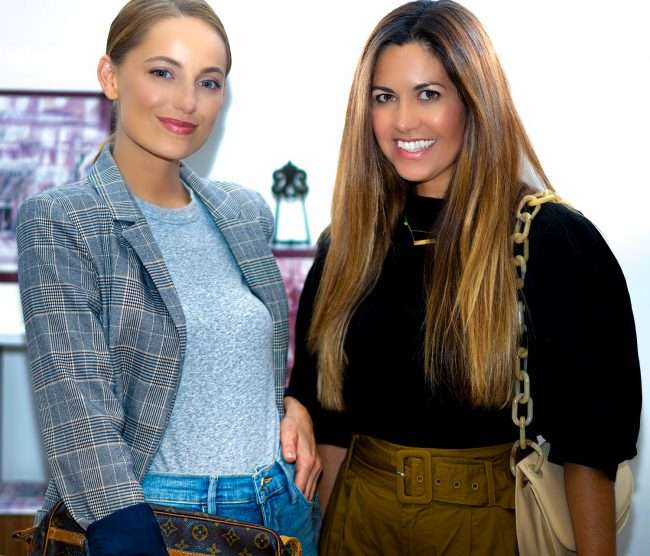 Carmen Remirez (R) with friend at Saint Louis Fashion Fund. Carmen is a fashionista and blogger of fashion in St. Louis.