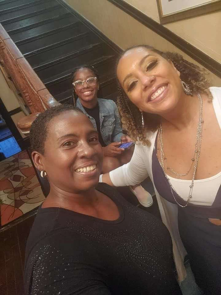 (Seated) Dyawna Gamble, (Left to Right) Monica R. Butler, Jana M. Gamble | August 9th, 2020 following Virtual Celebrity Town Hall in honor of Michael Brown, Jr.