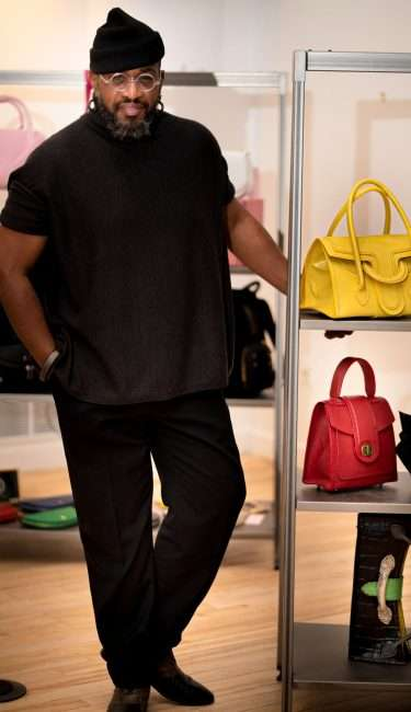 Saint Louis Fashion Fund with Everett Johnson, purse and bag creator. credit craig currie