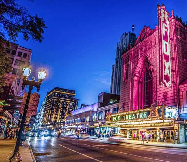 Fabulous Fox Theater in Grand Center Arts District in St. Louis. credit craig currie