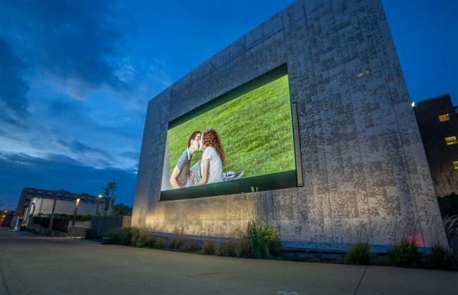 KETC Channel 9 movie screen in Grand Center Arts District, St. Louis. credit craig currie