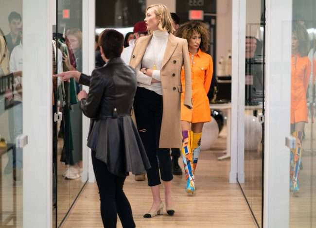 Karlie Kloss visits Saint Louis Fashion Fund with Elaine Welteroth and , Susan Sherman. credit craig currie