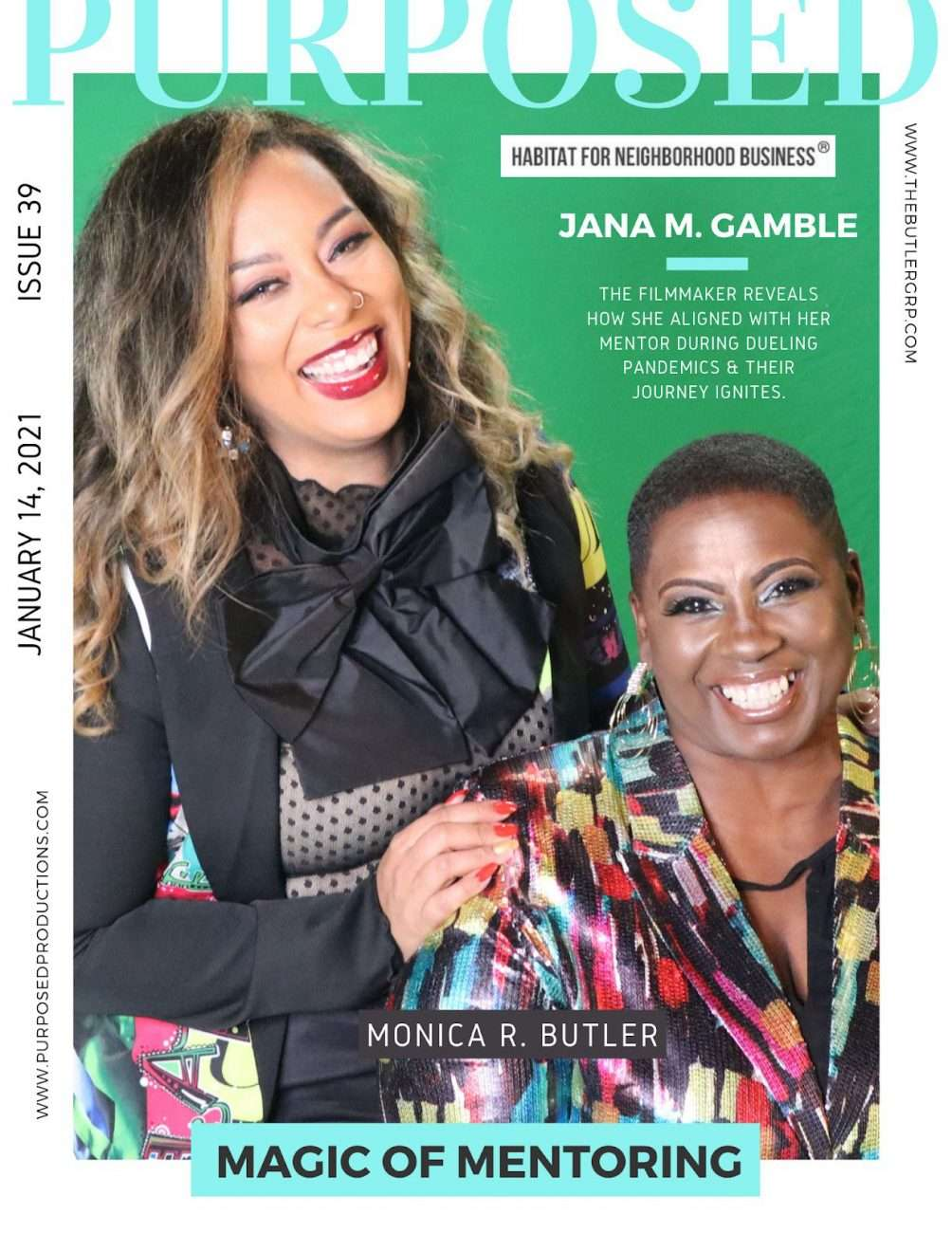 Fun Birthday Magazine Cover Featuring Mentor & Mentee for Jana's Birthday on January 14th. Photo credit Purposed Productions via Saint Louis University Service Leadership Student Alyssa Jimenez.