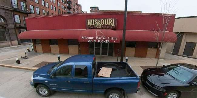 Outside view of Missouri Bar & Grille building after closing doors permanently during Covid-19 Pandemic. credit craig currie