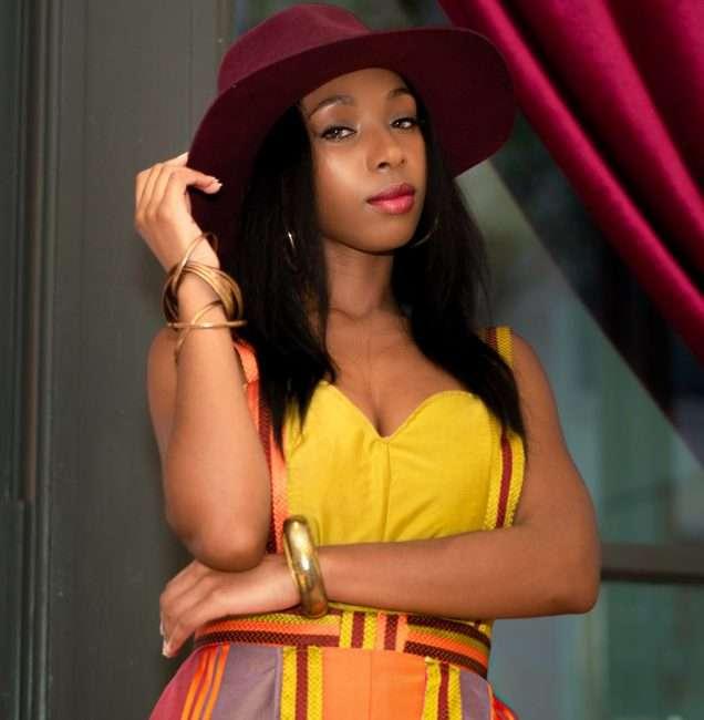 Model Laura Niboh Saint Louis Fashion Fund. credit craig currie