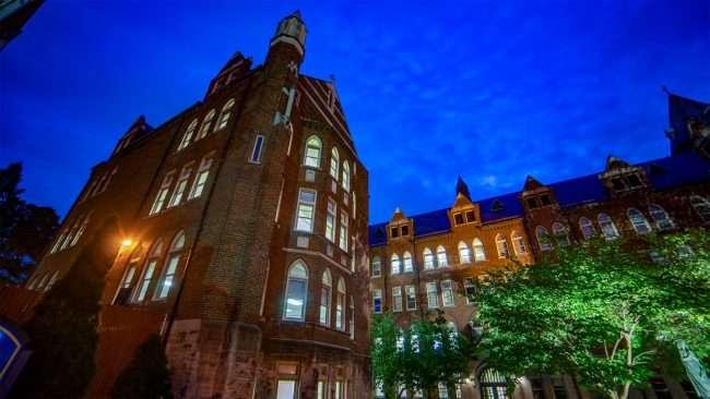 SLU Cook and Davis-Shaughnessy Halls Grand Center. credit craig currie