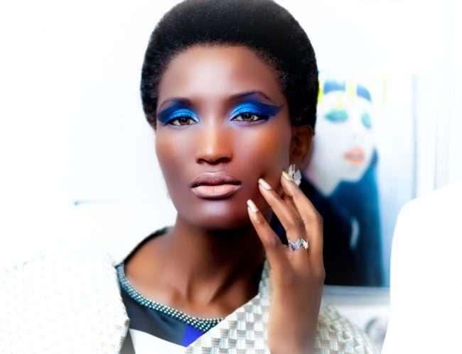 Saint Louis Fashion Fund with model wearing Yasi Fayal