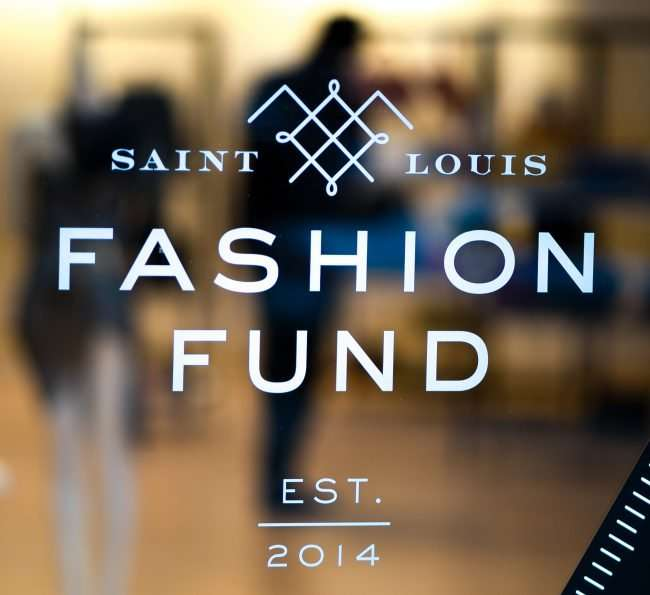 Saint Louis Fashion Fund painted on door. credit craig currie