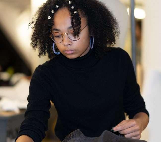 Taylor Jones at St. Louis Fashion Fund. credit craig currie